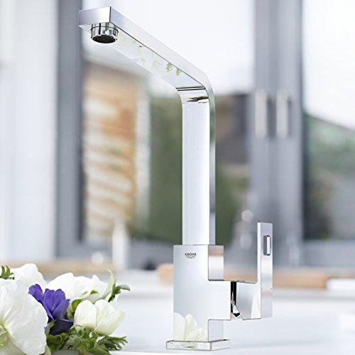 Grohe – Eurocube Küchenarmatur, Schwenkbereich 360°, hoher Auslauf, Chrom - 3