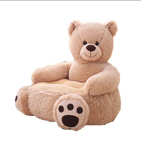 PUDDINGT® Kindersessel, Kindersofa Cartoon Mädchen und Jungen Geburtstagsgeschenk Spielzeug Faul Gepolstert Nettes Baby Kleines Sofa Sitz Kind Stuhl,Brown