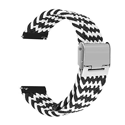 Correa universal de interfaz ancha Sunbose de 20 mm, estilo vers¨¢til, adecuada para muchas marcas de relojes inteligentes como Samsung, Huawei o Xiaomi.£¨Z-Negro / Blanco£