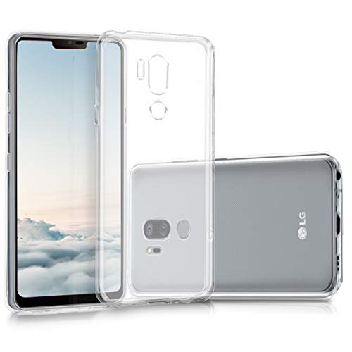 kwmobile Funda Compatible con LG G7 ThinQ/Fit/One - Carcasa de TPU para móvil - Cover Trasero en Transparente