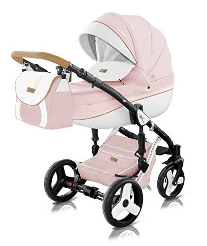 Milu Kids Kombikinderwagen Starlet Plus 3in1 Farbe STA-33+ rosa
