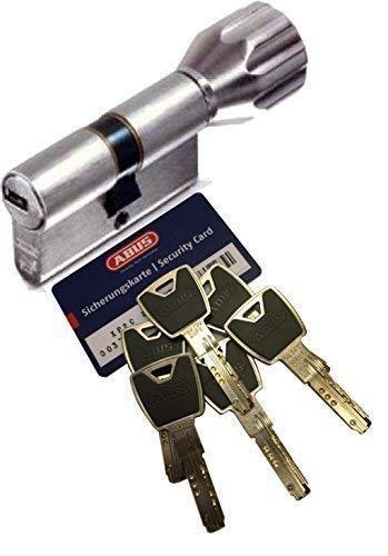 Preisvergleich Produktbild ABUS XP20S KXP20S Knaufzylinder Länge Z35 / K50mm K=Knaufseite,  mit Sicherungskarte und 6 Schlüssel mit Design-Clip,  mit SKG** Bohrschutz