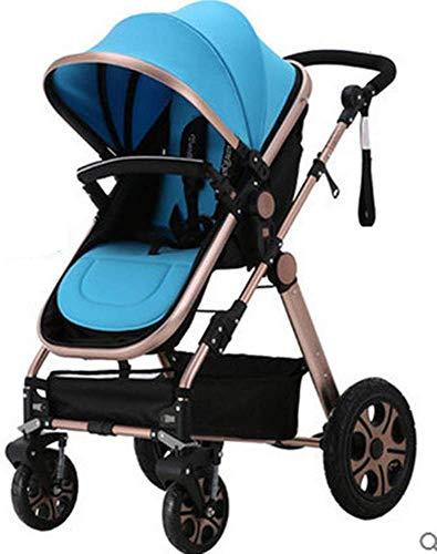 Xiaotian Baby-Kinderwagen können sitzen Klapp leichte tragbare Hoch Landschaft Suspension mit 5-Punkt-Sicherheitssystem Liege,A