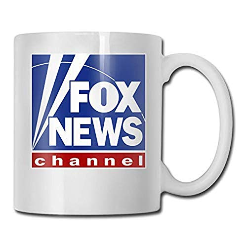 Fox News Channel Logo Cool Coffee Mugs 11oz Unique Ceramic Novelty Gift For Family Motivational Mug For All