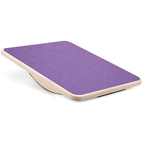 """Yes4All Professional Rocker Balance Board for Physical Therapy   17.5"""" Rocker Board, Rocker Wooden Balance Board for Balance & Rehabilitation Exercises (Purple)"""