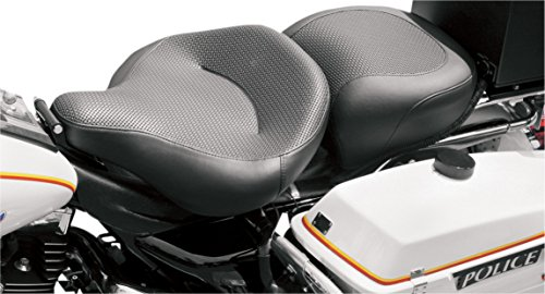 Mustang 79436 Standard Touring Passenger Motorcycle with Textured Material for Harley-Davidson Police 1983-2019, Black