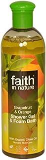 Faith in Nature Grapefruit & Orange Shower Gel & Bath Foam 400ml (Pack of 6) - 自然グレープフルーツ&オレンジシャワージェル&バス泡400ミリリットルの信仰 (x6) [並行輸入品]