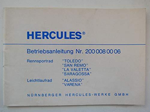 Hercules Rennsport/Leichtlauf Fahrräder Betriebsanleitung Nr. 200 008 00 06