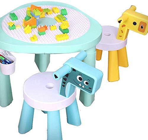 MU Puzzle Spielzeug Kinder Montage Sand Billardtisch Baby Früherziehung Tischbau Tisch Granulat Spieltisch,Blau,64 * 64 * 46cm