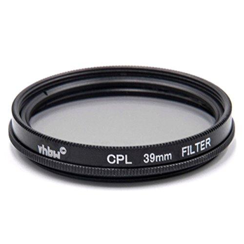 vhbw Filtro CPL Pol Universal 39mm para cámaras, Objetivos Voigtländer Color Skopar 25 mm F4 Pancake II