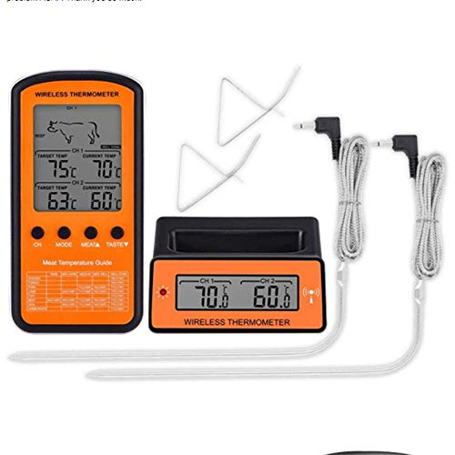 YWT Draadloze Digitale BBQ Vlees Thermometer, Afstandsbediening Koken Voedsel BBQ Thermometer met Dual Probe Grill, Oven Roken Thermometer Keuken Tool