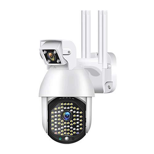 Cámara de vigilancia inalámbrica, cámara WIFI 1080P con audio, con cámara dual AI, IP66 a prueba de agua, la función de detección de movimiento es adecuada para el sistema de seguridad del hogar