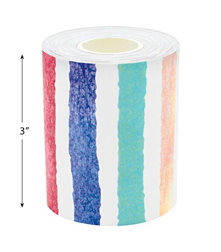 Watercolor Stripes Straight Rolled Border Trim Photo #5