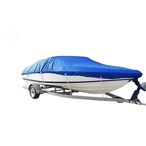 Cubierta De Barco De Alta Resistencia Al Aire Libre En Forma De V 420D Tela Oxford Ropa De Kayak Cubierta Impermeable para Yates Azul Resistente (21-24FT-V)
