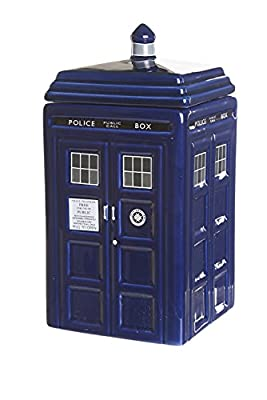 Doctor Who TARDIS biscuit jar. Guaranteed to make your biscuits disappear!