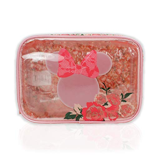 Disney Minnie Mouse Pink Floral Cosmetic Make Up Toiletry Wash Bag