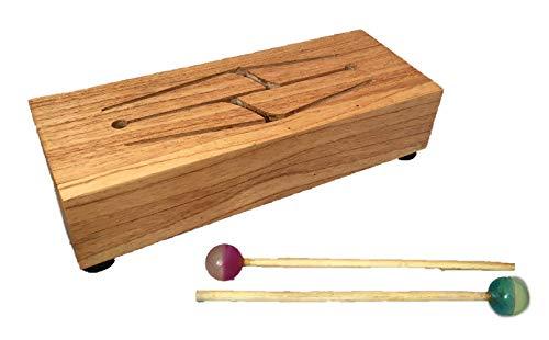 Handgefertigte Xylophon-Box aus Holz mit Upcycling-Bouncy Ball Sticks