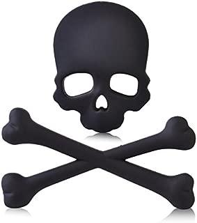 Daphot-Store - Metal 3D Skull Bone Skeleton Emblem Badge Logo Sticker Car Auto Motorcycle Decoration Fit for Car Motorcycle Boat