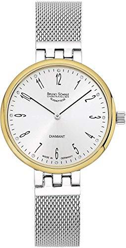 Bruno Söhnle Damen Analog Quarz Uhr mit Edelstahl Armband 17-23157-280