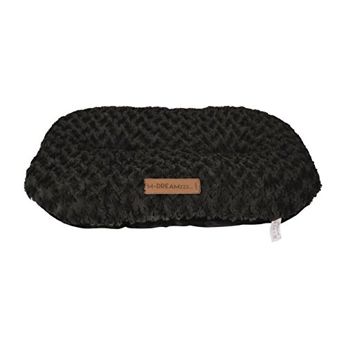 M-PETS Shetland Hundekissen, oval, schwarz, 110 x 70 cm, Größe XXXL