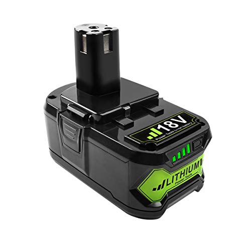 TURPOW 4.0Ah 18V High Capacity Lithium Ion Replacement Battery for 18-Volt ONE+ P102 P103 P104 P105 P107 P108 P122 Cordless Power Tool Battery