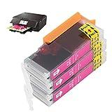 BOLORAMO Caja de Impresora de inyección de Tinta, Cartucho de Tinta Duradero de 3 Piezas, Caja Colorida de plástico para Empresas para hogares(Red, Polar Animals)