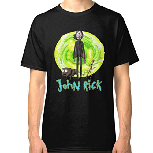 HuXiHuXiHu Kurzarmshirt, John-Rick Unisex T Shirt