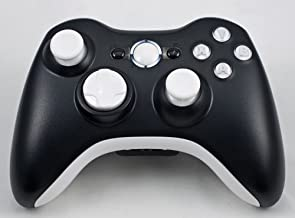 Black/White Xbox 360 Modded Controller (Rapid Fire) COD Modern Warfare 3, Black Ops, MW2, MOD GAMEPAD LEDS