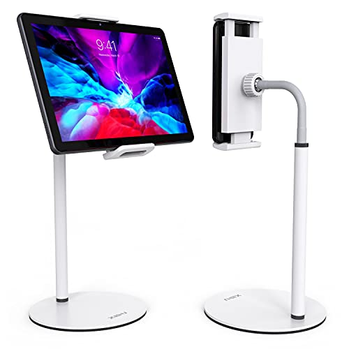 XIDU Supporto Tablet, Porta Cellulare da Tavolo Girevole a 360° ,Regolabile Collo Oca, Alluminio Supporto Tablet, Porta Tablet da letto, per Tutti Tablet/Telefono/iPhone/iPad da 5.2 a 13.3 Pollici