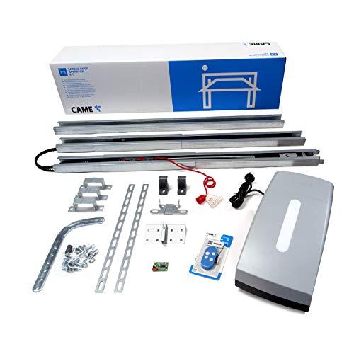 CAME 8K01MV-015 Kit de motorisation de porte de garage pour porte de garage VER06k03 max. Surface de portail 9 m2, puissance de traction 600 n, moteur 24 V CC. Gris clair