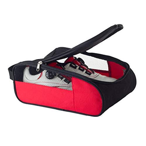 Cicony Golfschuh-Tasche, wasserdichte Golfschuh-Tasche für die Reise mit Reißverschluss und atmungsaktivem Netz
