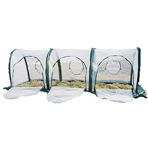 Yx-outdoor 300 * 100 * 100 Cm Draagbare Home Tunnel Broeikas Mobiele Mini Broeikas Ventilatie Kas Plant Isolatie Cover Geschikt voor Bloeien, Planten
