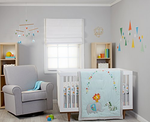Zutano Blue Juba 5-Piece Crib Set