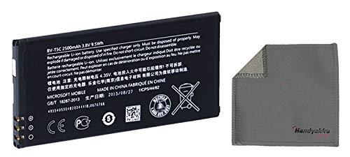 Handyakku4you Microsoft Akku Li-Ion BV-T5C, 2500mAh, für Microsoft Lumia 640 / Lumia 640 Dual SIM LTE inkl. Handyakku4you Reinigungstuch