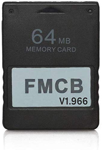 RGEEK FreeMcBoot FMCB 1.966 PS2 Memory Card 64MB for Sony Playstation 2 PS2,Just Plug and Play, Help You to Start Games on Your Hard Disk or USB Disk