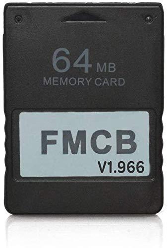 RGEEK FreeMcBoot FMCB 1.966 PS2 Speicherkarte 64 MB für Sony Playstation 2 PS2, Plug-and-Play, hilft Ihnen, Spiele auf Ihrer Festplatte oder USB-Disk zu starten