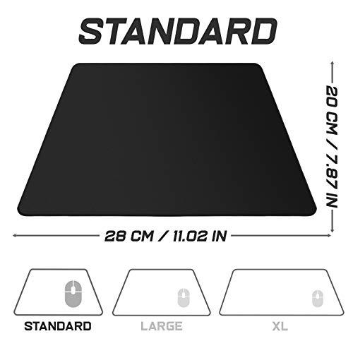 Sidorenko Gaming Mauspad – 280 x 200 mm – Vernähte Kanten – Rutschfest – Mousepad mit einer speziellen Oberfläche verbessert Geschwindigkeit und Präzision | schwarz - 3