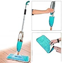 SKYTONE With Device Multifunctional Microfiber Floor Cleaning Healthy Spray Mop with Removable Washable Cleaning Pad and Integrated Water Spray Mechanism (Blue, 46 x 16 x 10 cm)