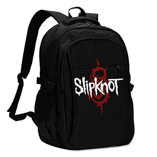 Personalized Backpack With Usb Charger Port Slipknot Laptop School Bag Waterproof Business Travel Rucksack Multipurpose Daypack For Teens And Adult
