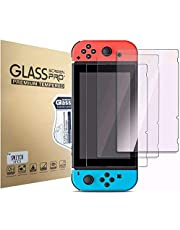 Screen Protector Tempered Glass for Nintendo Switch [3 Pack], Aishtec [9H Hardness] Transparent HD Clear Anti-Scratch Screen Protector – Pack of 3