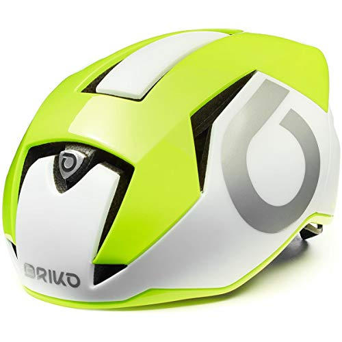Briko Gass 2.0 Casco Ciclismo, Adultos Unisex, White Yellow Fluor Silver, Medium