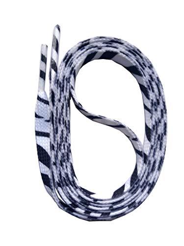 SNORS bedruckte Schnürsenkel ZEBRA weiss 140cm, 10mm, Schuhbänder mit Motiv, reißfest, waschbar, Flachsenkel Made in Germany