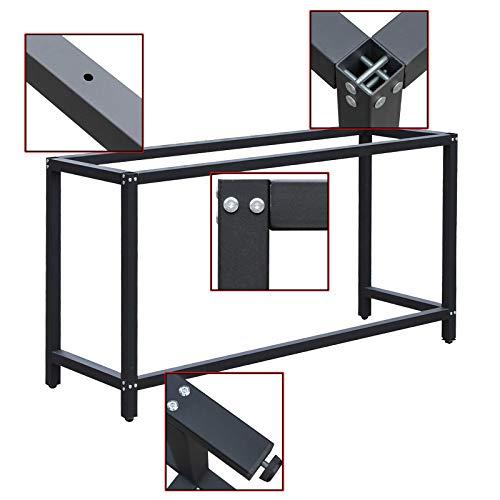 Werkbankgestell B50xL125xH80cm Tischgestell Arbeitstisch Werkbank Packtisch Tisch Gestell