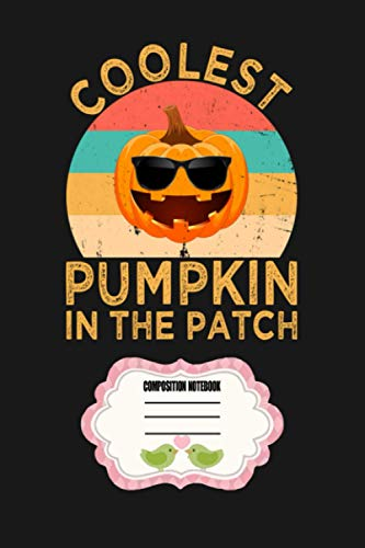 Kids Coolest Pumpkin In The Patch Halloween Boys Girls Gift Vintage Notebook: Journal, Lined Notebook, 120 Blank Pages, Journal, 6x9 Inches, Matte Finish Cover