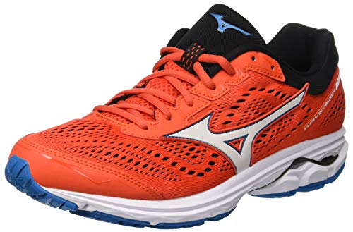 Mizuno Wave Rider 22, Men's Running, Multicoloured (Ctomato/Whi/Turkisht 001), 7 UK (40.5 EU)