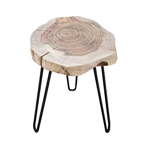 Invicta Interior Taburete/Mesa – Goa – Tronco de árbol – de Acacia Maciza – Cada Taburete es único #36707