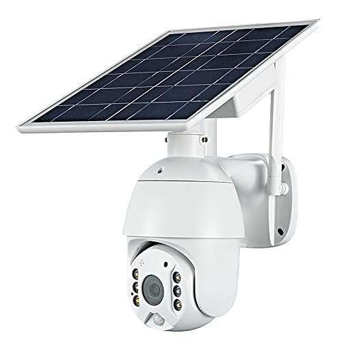 YINHA Cámara De Seguridad con 7W Panel Solar, Batería Recargable De 15600mAh, Visión Nocturna De 1080p, Pir Detección De Movimiento, Audio De 2 Vías, Máximo 12 8GB SD/Almacenamiento En La Nube