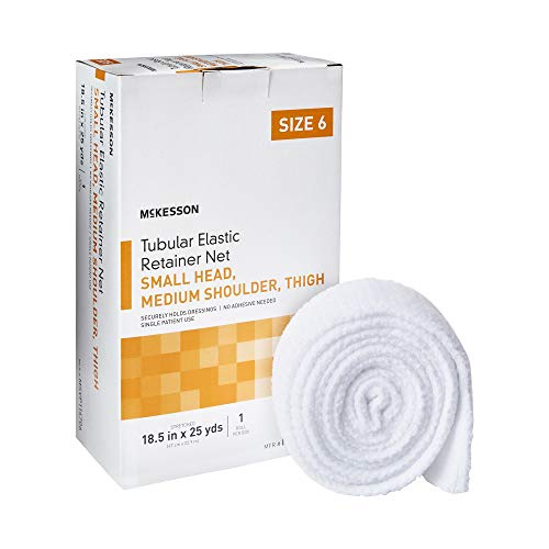 McKesson Elastic Net Retainer Dressing 18-1/2 Inch X 25 Yard (47 cm X 22.9 m) Sz. 6 1 per Box