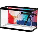 ScottDecor Cinema 3D Double-Sided AdhesiveWallpaper Colorful Projector Silhouette with Movie Reel Vintage Design Entertainment Theme Photography Background Multicolor L24 X H12 Inch