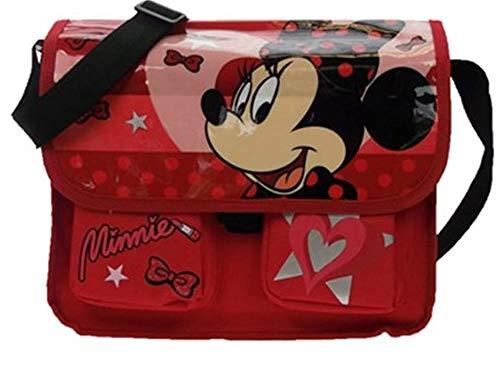 Disney Umhängetasche für Mädchen, Motiv Minnie Maus, offizielles Lizenzprodukt, Lippenstift-Rot